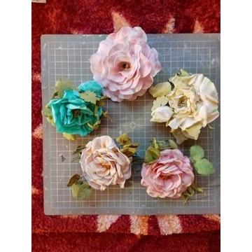 Broszka - kwiat z foamiranu scrapbooking cena za s