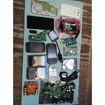 Zestaw elektroniki smartfony telefony części