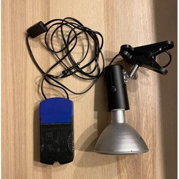 Lampa z ballastem i żarówką metahalogenową