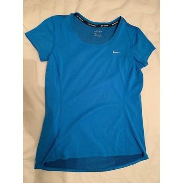 damska koszulka biegowa niebieska Nike rozm. S