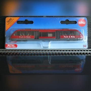 Pociąg - szynobus, lokomotywa, wagon - SIKU 1646