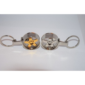 Brelok breloczek felga auto złota srebrna prezent