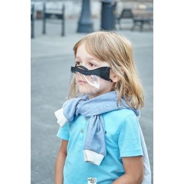 Maseczka mini przyłbica ochronna na nos i usta