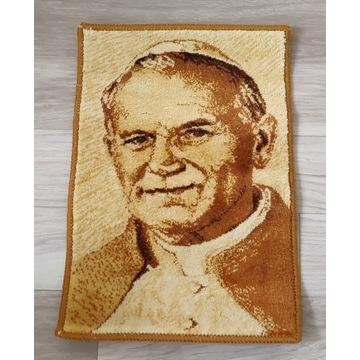 Jan Paweł II, Papież, dywan ścienny, kilim, 33x50