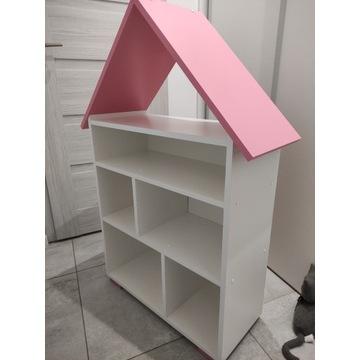 Zestaw meble dla dziewczynki różowe 4 elementy