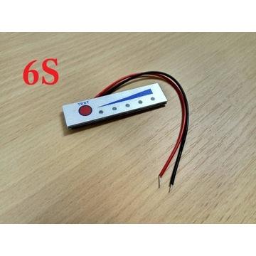 6S Wskaźnik naładowania akumulatora Li-Ion 25,2V