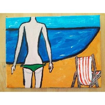 ręcznie malowany, AKRYL PŁÓTNO, Plaża