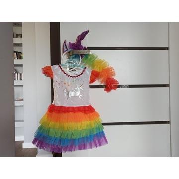 Tęczowa sukienka - jednorożec