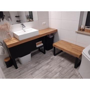 Blat drewniany łazienkowy dębowy pogrubiany