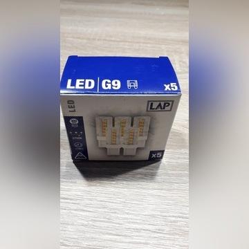 ŻARÓWKA G9 LED LAP 2700K 5szt. w opakowaniu NOWE