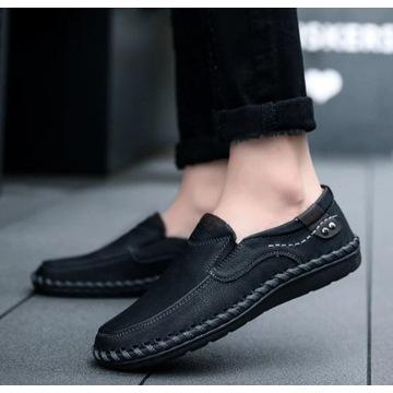 Buty męskie, czarne, SNIKERSY, rozmiar 42