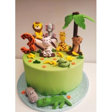 Figurki Małpka+zebra+żyrafa+krokodyl