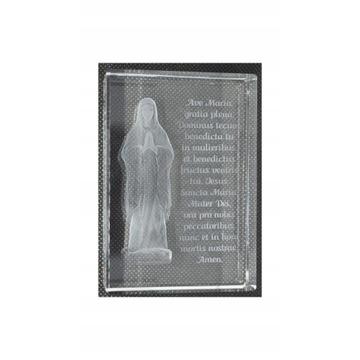 Matka Boska z Modlitwą Kryształ Grawer laserowy 3D