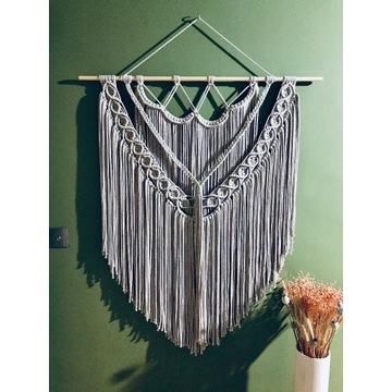 Makrama boho - duża - handmade - 100 x 125 cm