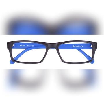 Okulary korekcyjne męskie wg recepty, czarno-nieb.