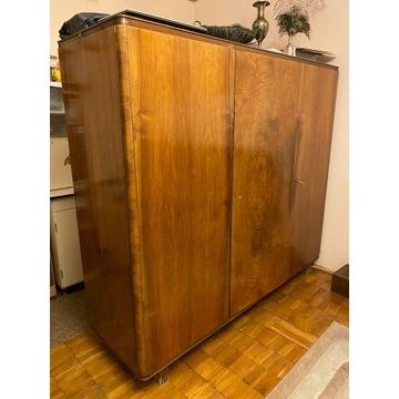 Szafa drewniania, 3-drzwiowa, vintage