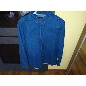 Koszula Jeansowa Niebieska Idealny Stan Reserved L
