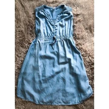 sukienka ciążowa, rozm. L, h&m mama, błękitna