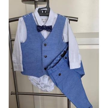 Zestaw ubranek do chrztu dla chłopca 80 cm Mayoral