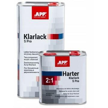 LAKIER Klarlack S Pro 2:1 5L+UTWARDZACZ 2,5L- APP