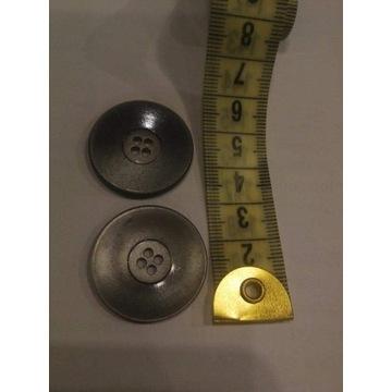 Szare, srebrne guziki 30 mm 4 dziurki Wyprzedaż