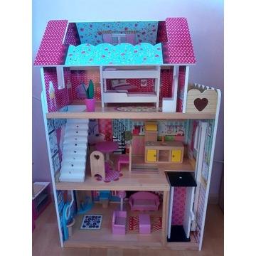 Drewniany domek dla lalek, jak nowy.