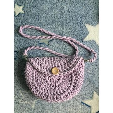 damska torebka pleciona handmade ze sznurka boho