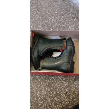 buty trzewiki glany OTMĘT czarny zielony nowe
