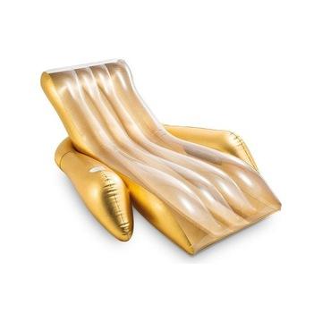 Leżak dmuchany w kolorze złotym - 175 x 119 x 61