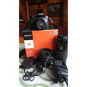 Zestaw aparat SONY Alpha A230 +3 obiektywy MINOLTA