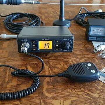 CB Yosan Pro-120+anteny Sirio ML i Mikro+ SWR-mete