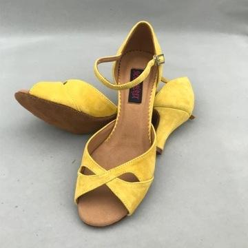 Skórzane buty do tańca towarzyskiego, rozm. 38