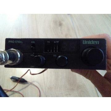 Radio CB Uniden Pro 510xl + Antena