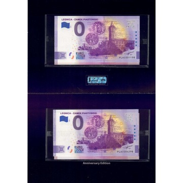 Banknot 0 Euro Zamek Piastowski - Legnica etui