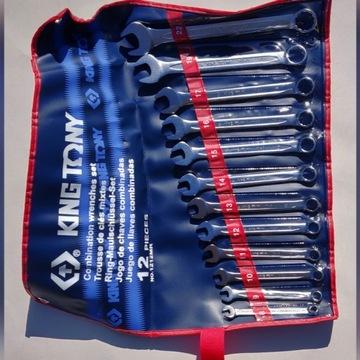Zestaw kluczy płasko-oczkowych King Tony 8-22mm