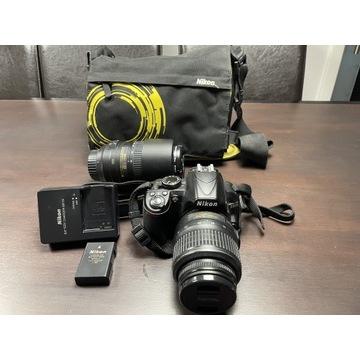 Nikon 3100 + dwa obiektywy + torba