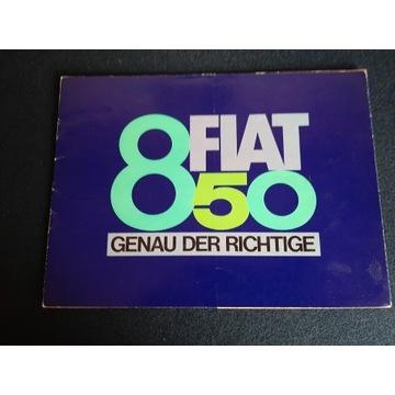 UNIKAT PROSPEKT  FIAT 850   1964rok