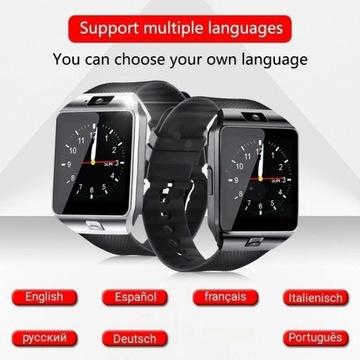Nowy smartwatch karta sim różne języki