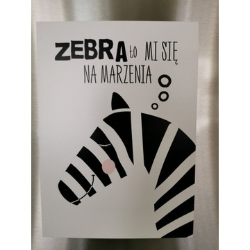 Magnes na lodówkę art. zebra z przesłaniem!