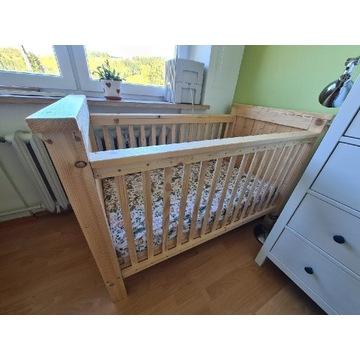 Łóżeczko drewniane ręcznie robione - nowe. 120x60