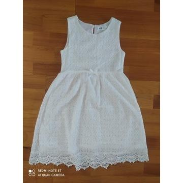 Sukienka letnia wizytowa H&M r. 134/140  jak nowa!