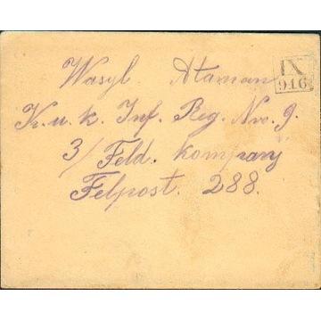 1916 - Babin (Kałusz) kamuflażowy st.okręg. IX-916
