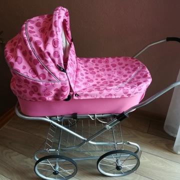 Wózek dla lalek na resorach - jak nowy