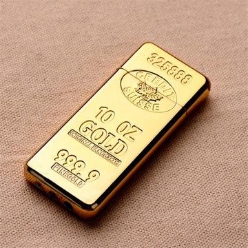 zapalniczka pozłacana....sztabka złota... gaz