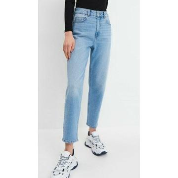 Mohito nowe spodnie mom jeans 36