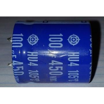Kondensator elektrolityczny 100uF 450V