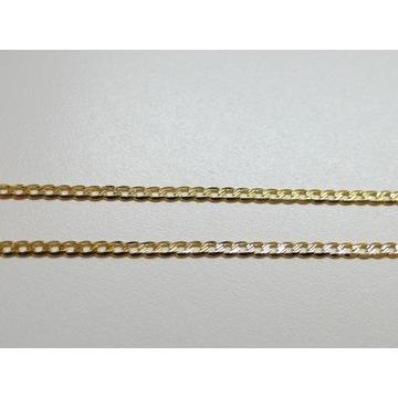 Złoty łańcuszek pancerka dł.45cm złoto pr.585