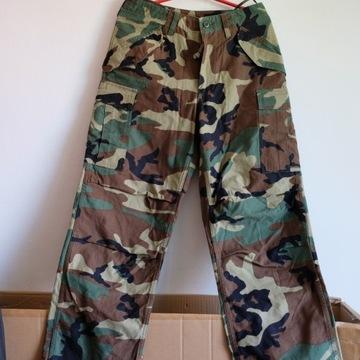 Spodnie wojskowe M65 woodland r S