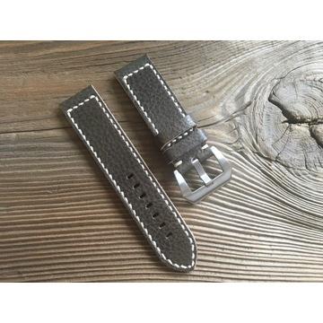 Pasek do zegarka handmade skórzany oliwka 22 mm
