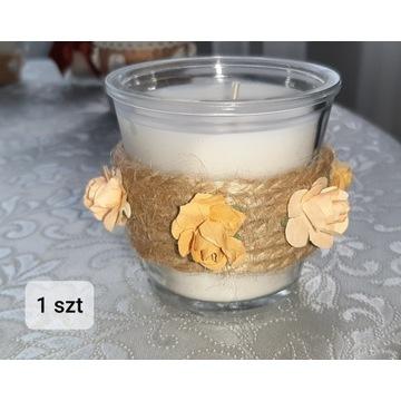 Świeczki w stylu Rustykalnym komplet 22 szt